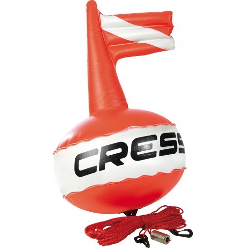 Cressi Scuba Diving COMPETITION FLOAT Buoy 0.35 MM PVC BRIGHT RED COLOR FOR MAXIMUM VISIBILITY