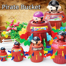QUINEE OX Intellectual Novelty Toy Pirate Bucket Anti Stress Toys Adults Lucky Stab Pop Up Table Game Tricky For Boys Kids