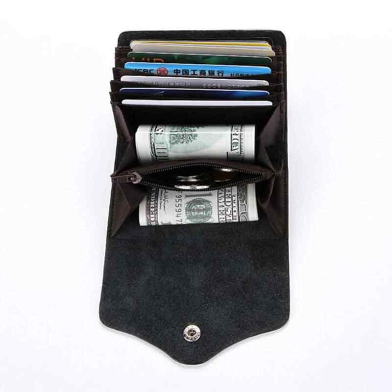 88f33ba1faa Split Leather Fashion Function Rfid Card Bag Card Holder Men Credit Passport  Cover Bag ID Card