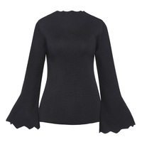 Sisjuly 60s Sweaters Women Autumn Winter Pullover Long Butterfly Sleeve Sexy Casual Fashion Female Sweaters New