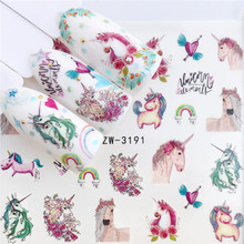 Wuf Nail Stickers Op Nagels Paard Bloem Stickers Voor Nagels Lavendel Nail Art Water Transfer Stickers Decals