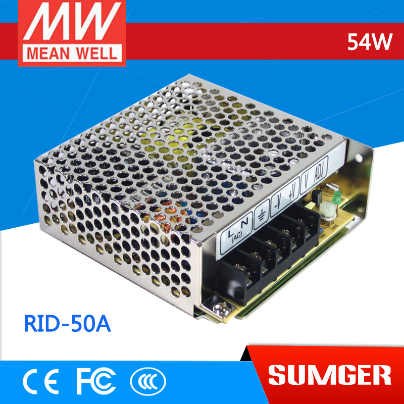ФОТО [Freeshiping 1Pcs] MEAN WELL original RID-50A meanwell RID-50 54W Dual Output Switching Power Supply