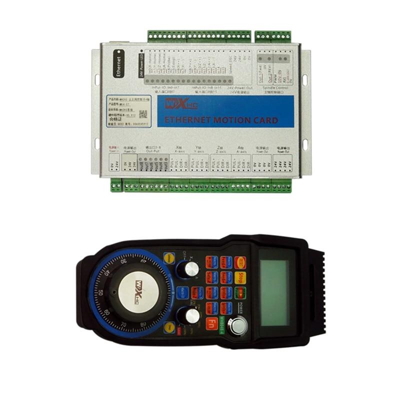 Mach3 carte de contrôle de mouvement Port Ethernet 4 axes 6 axes USB roue à main sans fil pour bricolage CNC Machine de gravure