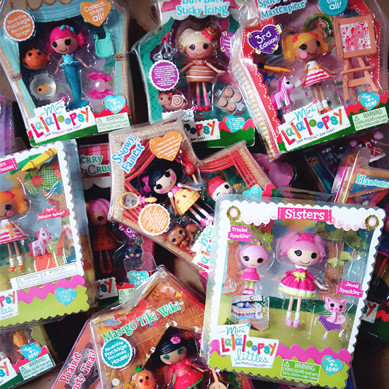 8cm Mini Lalaloopsy Dolls With Small Accessories Girl Toys Set Play House Toys Gifts