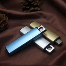 USB Electronic Lighter Flameless Windproof Rechargeable Cigarette Lighter Plasma ARC Metal Lighter Smoking Tools Gadgets for Men