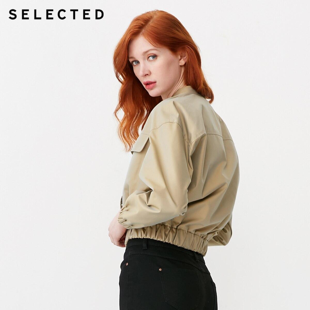 เลือกผ้าฝ้าย rich Stand up Collar เสื้อแขนยาว S  419121511-ใน โค้ทยาว จาก เสื้อผ้าสตรี บน   3