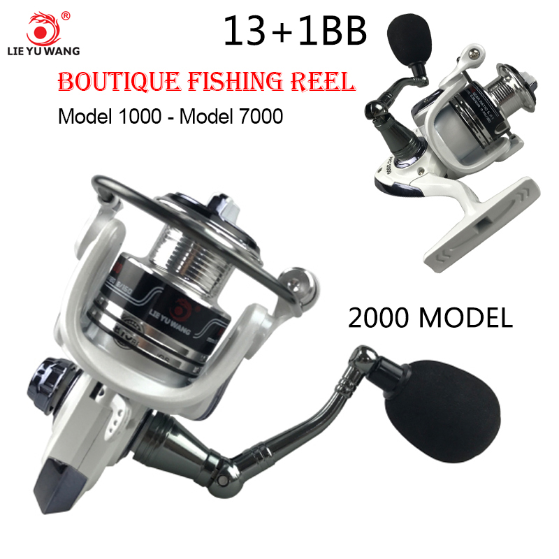 Yumoshi 1000-7000 12BB 5.5:1 Feeder Fishing Reel Metal Spinning Reels Carp Fishing Reels (2000)(China)