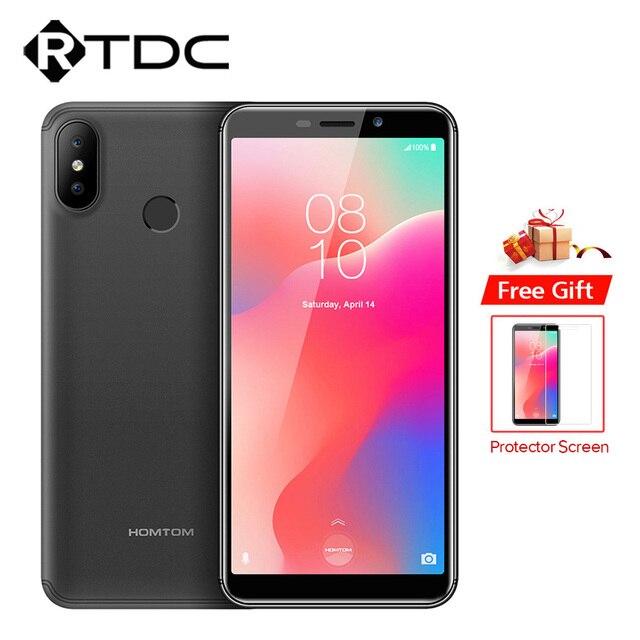 Original HOMTOM C1 5.5 inch 18:9 Mobile Phones Android go Quad Core Fingerprint 1GB RAM 16GB ROM Dual SIM 3000MAh OTA Smartphone