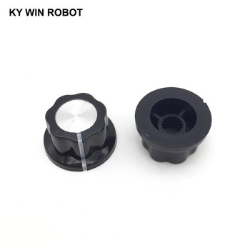 10pcs/lot MF-A01 A01 Potentiometer Knob Cap Inner 6mm 20x12mm Rotary Switch Bakelite for WHT118 WX050