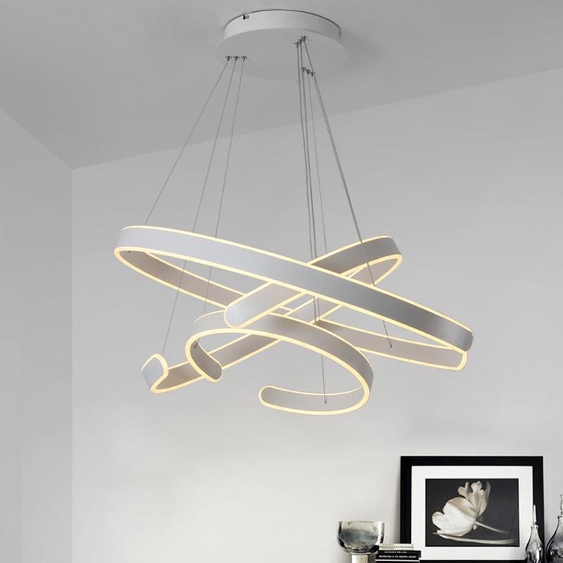 AC90 264VModern pendant lights for living room dining room Geometry Circle Rings acrylic aluminum body LED AC90-264VModern pendant lights for living room dining room Geometry Circle Rings acrylic aluminum body LED Lighting ceiling Lamp