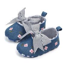 Обувь для детской кроватки мягкая нескользящая подошва с бантом