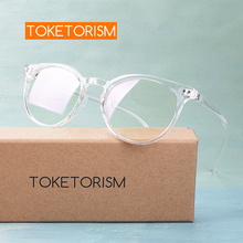 Toketorism trendy womans eyeglasses frame vintage glasses round transparent men accessories 3822