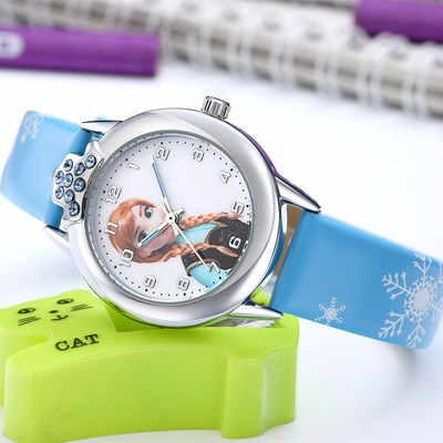 Женские часы 2019 новые relojes Детские Мультяшные часы дети мода подарок Принцесса Резина милые кожаные кварцевые часы девушка часы