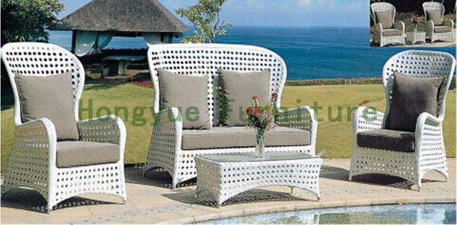 Outdoor Garden Sofa Set In Rattan Furniture