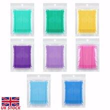 Новая 100 зубная микро щетка одноразовые материалы маленькая головка макияж Чистящая палка мешок