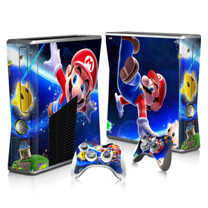 Image 1 - For Super Mario Skin Sticker Decal For Xbox 360 Slim Console and Controllers Skins Stickers for Xbox360 Slim Vinyl