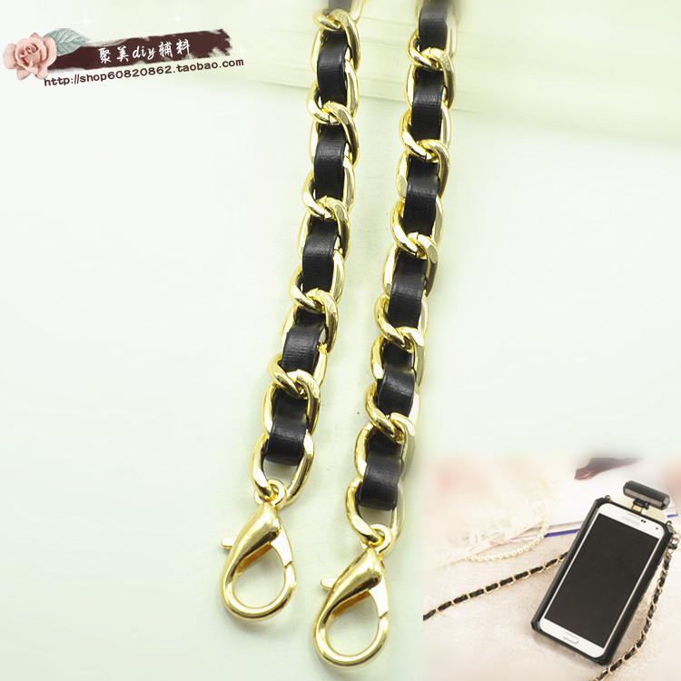 Top SaleHight quality leather handle purse strap bag hardware handbag chain bag parts bag strap chain bag chain belt
