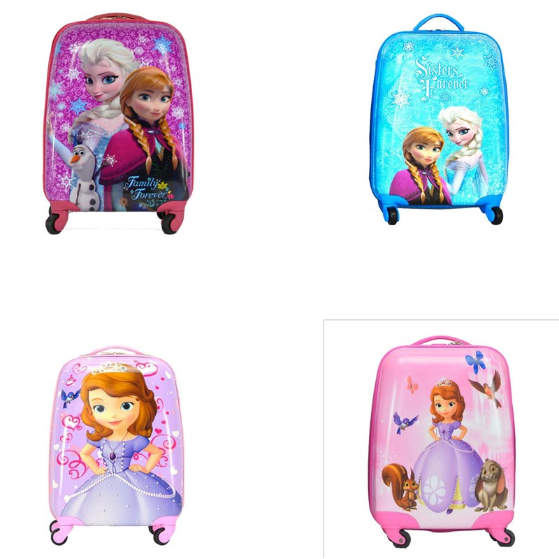 Cartoon girls Travel Trolley Bags Suitcase For Kids Children Suitcase Rolling Luggage Travel Bag On Wheels vintage suitcase 20 26 pu leather travel suitcase scratch resistant rolling luggage bags suitcase with tsa lock