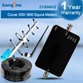 Sanqino Nuevo Repetidor 3G UMTS Yagi Repetidor W-CDMA 2100 Mhz 3G Repetidor de Refuerzo y Antenas Juegos Completos de Techo 3G Amplificador de Señal