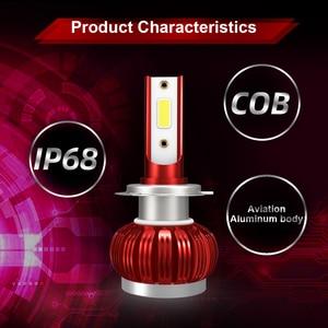 Image 5 - COB Chip H1 H4 H7 LED Headlight Conversion Kits H11 9005 9006 HB3 HB4 Car Light Bulbs Auto Lamp 6000K 12V