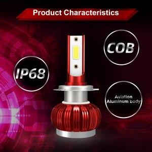Image 5 - Układ COB H1 H4 H7 LED konwersja reflektorów zestawy H11 9005 9006 HB3 HB4 żarówki samochodowe lampa samochodowa 6000K 12V