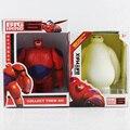 Big hero 6 red baymax ação brinquedos figura boneca com caixa de pvc 6 polegada 15 cm
