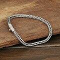 S925 joyería de plata por mayor Mens hechos a mano hebilla de plata 4 m tailandia simple pulsera de cuerda