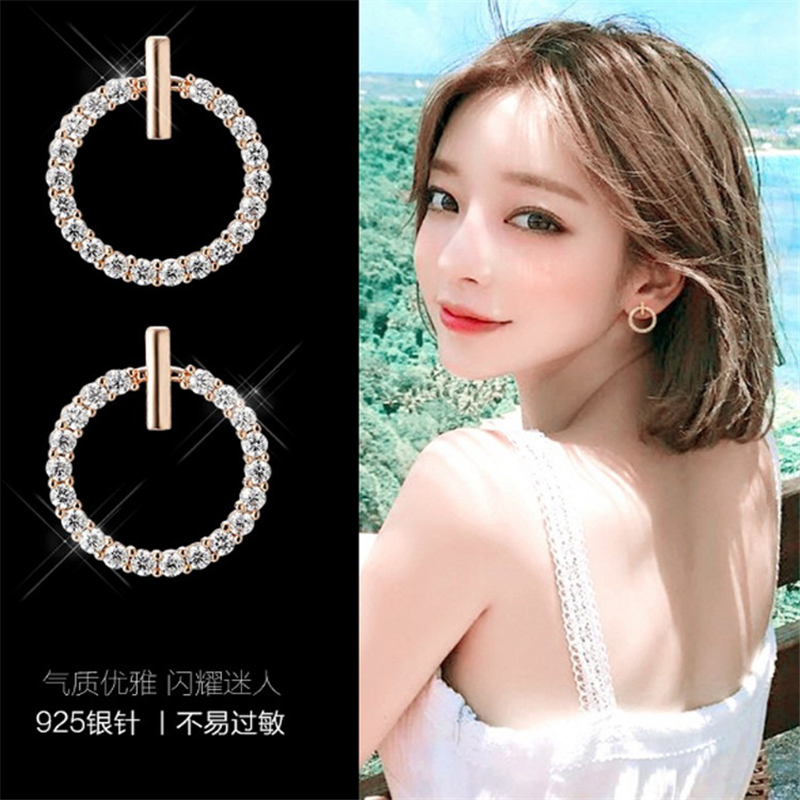 Hypoallergenic Circle Delicate Mini Drop Earrings Gold Silver Plated New Fashion 2019 Women's Stud Earrings Jewelry Party Summer
