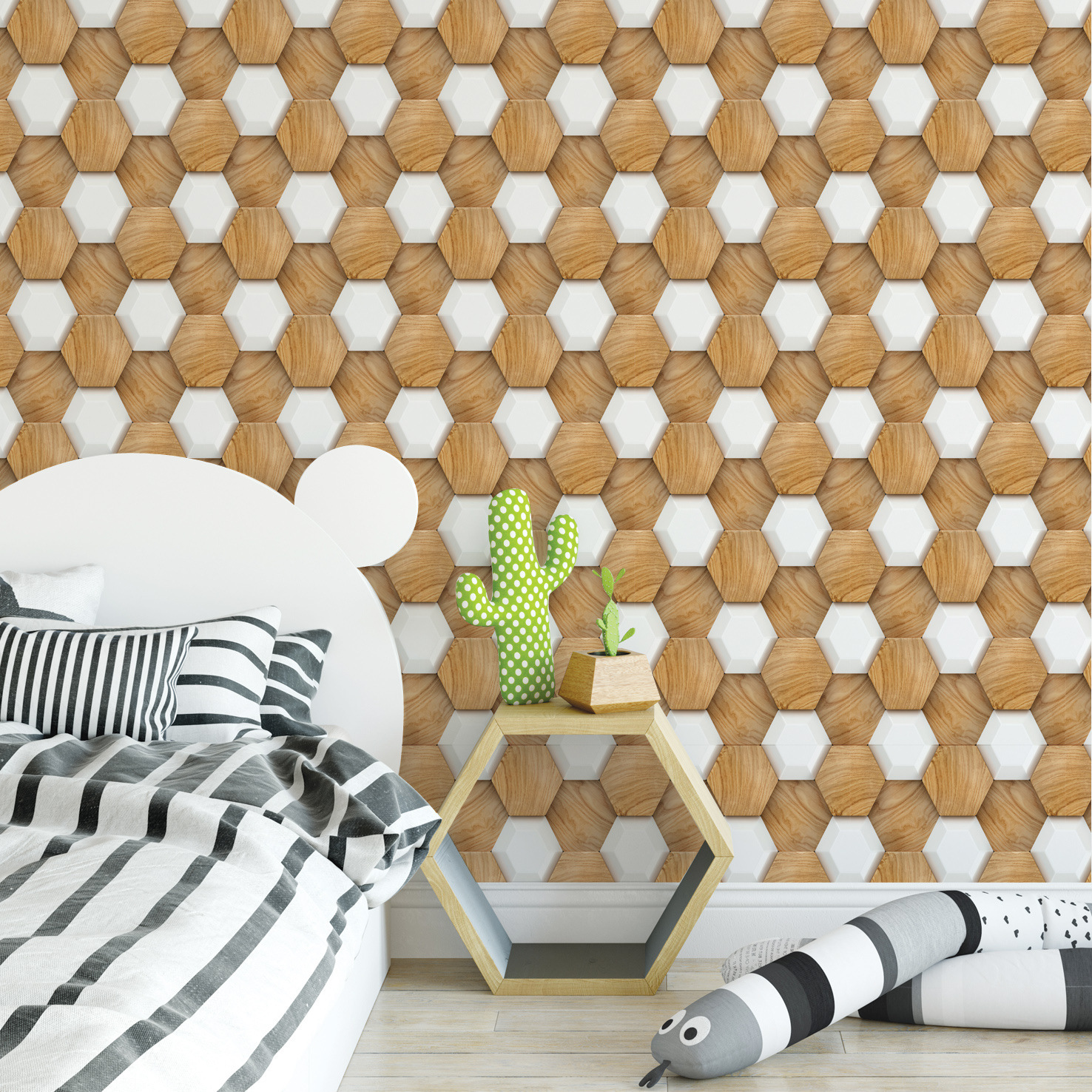 Waterproof DIY PVC Vinyl Self Adhesive Wallpaper for Kitchen Backsplash Tile Bathroom Living Room Bedroom Home Decor Wall Paper in Wallpapers from Home Improvement