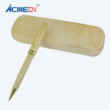 ACMECN Classic Wood Pen with Nice Box Personalized & Case Set Natural Maple Eco-friendly Ball Unisex Christmas Gift