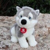 25CM Lifelike Husky Dog Plush Toys Dolls Soft Husky Sitting Puppy Stuffed Animal Birthday Gift For Kids