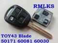 RMLKS 50171 60081 60030 304 2 МГц 433 Мгц дистанционный ключ 4D67 4C транспондер чип подходит для Toyota Prado 120 RAV4 Kluger Avensis Tarago