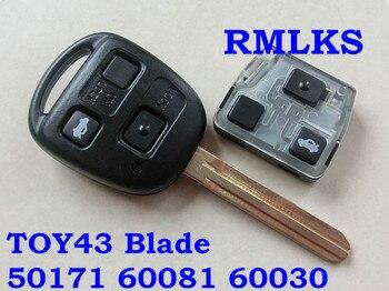 RMLKS 50171 60081 60030 304,2 MHz 433mhz Remote key 4D67 4C Transponder Chip Fit Für Toyota Prado 120 RAV4 kluger Avensis Tarago