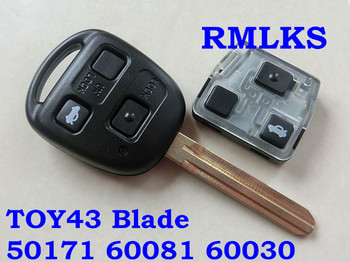 RMLKS 50171 60081 60030 304,2 mhz 433 mhz Remote key 4D67 4C Transponder Chip Fit Für Toyota Prado 120 RAV4 kluger Avensis Tarago