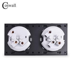 Image 5 - Coswall Crystal Gehard Pure Glas Panel 16A Dubbele Eu Standaard Stopcontact Outlet Geaard Met Kind Beschermende Lock