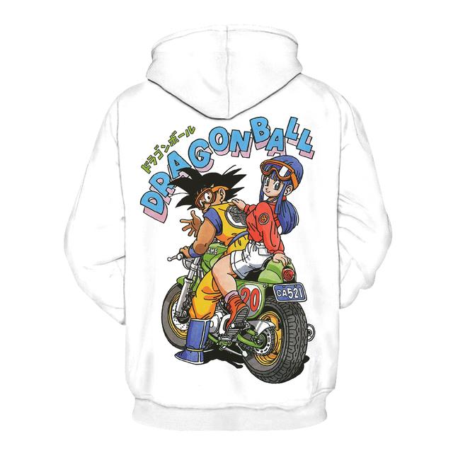 Classic Manga Style Bulma Goku Graphic Hoodie Sweater Sweatshirt