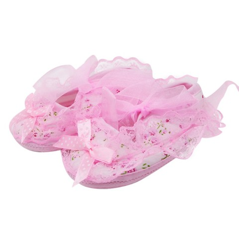 2019 New Lace Bow Baby Girl Princess Shoes Toddler Girl Cute Shoes Newborn High Quality Baby First Walker Shoes Baby Shoes Pakistan