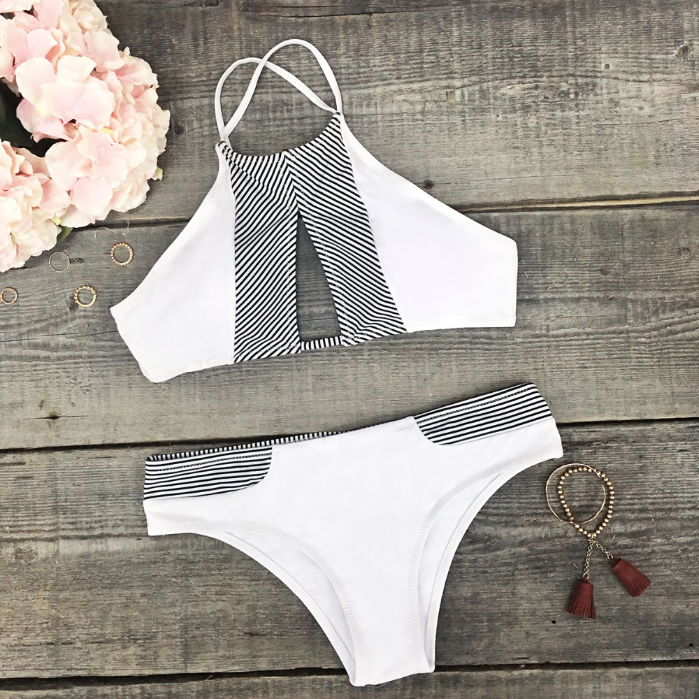 HTB12EY7PbPpK1RjSZFFq6y5PpXaF CUPSHE Dark Blue Halter Bikini Set Women Cutout Backless Crop Top Two Pieces Swimwear 2019 Girl Beach Bathing Suits Swimsuits