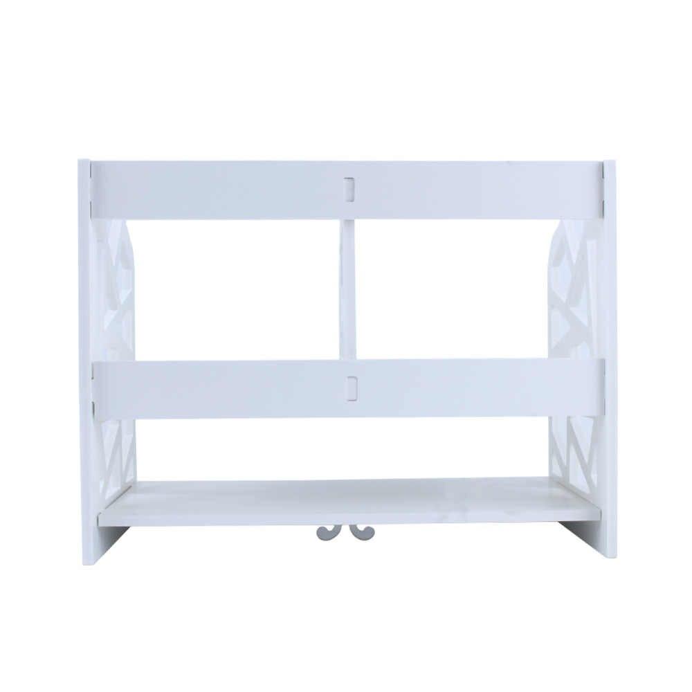 2 niveles de los niños estantería de escritorio Oficina estantes estante de almacenamiento de oficina librería escritorio estante