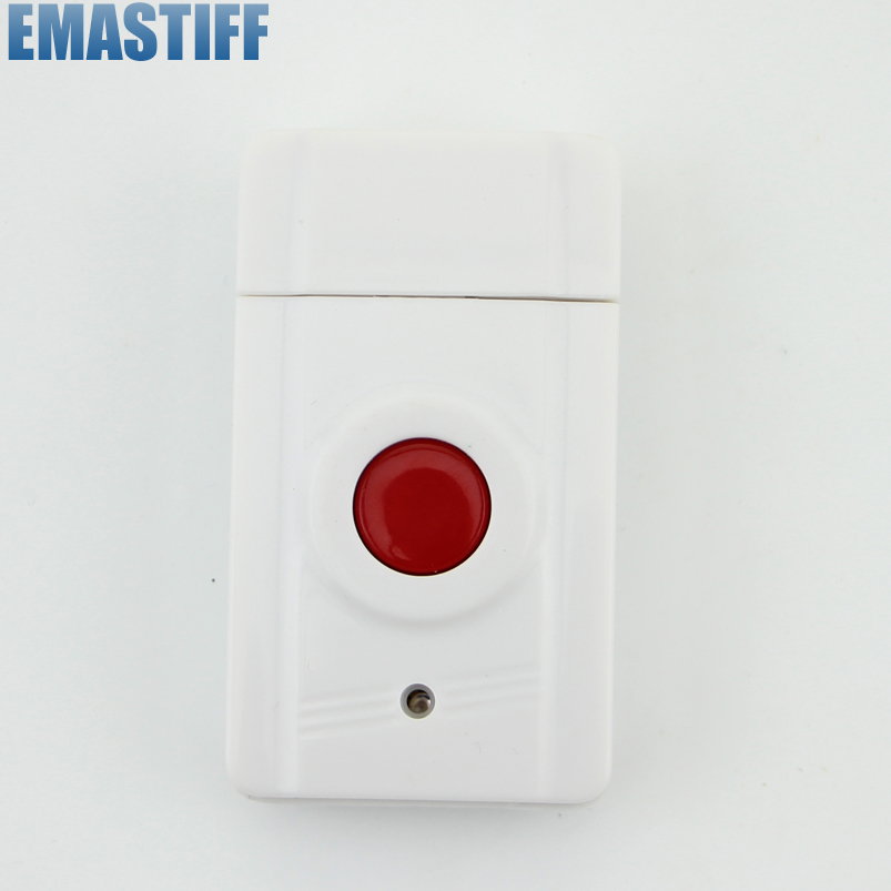 eMastiff Wireless Emergency Panic Button For Our Alarm System 433MHz One Key Alert wireless pager system 433 92mhz wireless restaurant table buzzer with monitor and watch receiver 3 display 42 call button