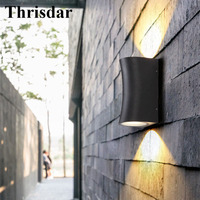 Thrisdar 10W Up Down Waterproof Led Wall Lamp Outdoor Garden Porch Wall Light Aluminum Villa Aisle Balcony Courtyard Decor Light