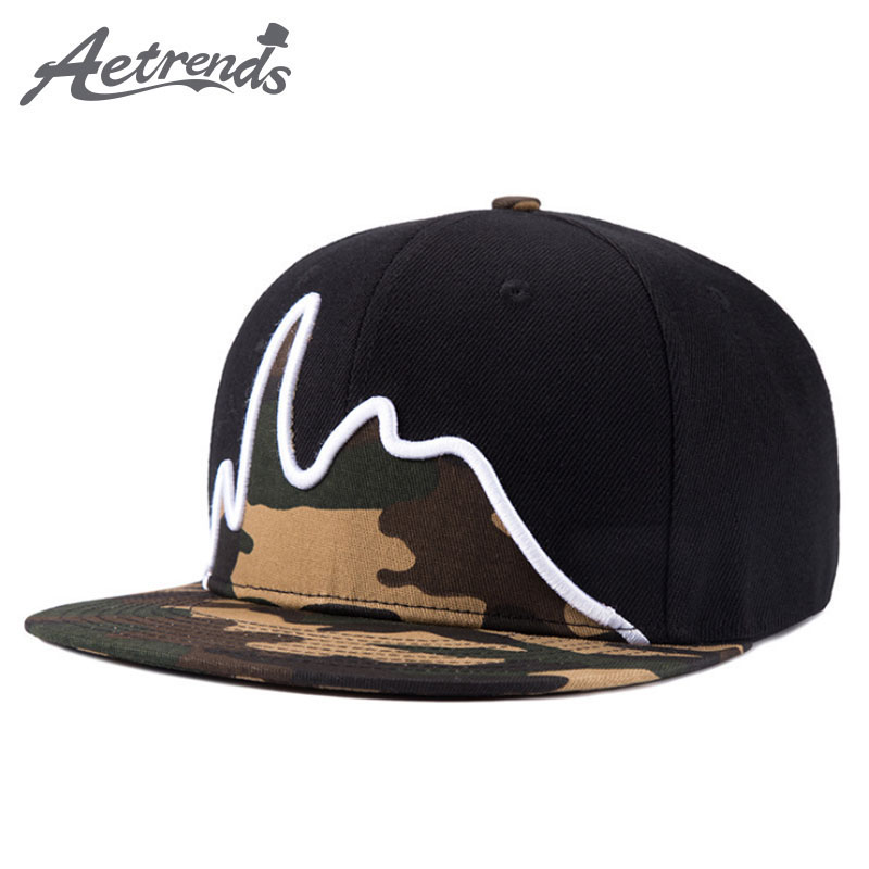 [AETRENDS] Men's Black Snapback Hip Hop Cap Flat Hat Baseball Caps Z-2626 military hat flat cap m177
