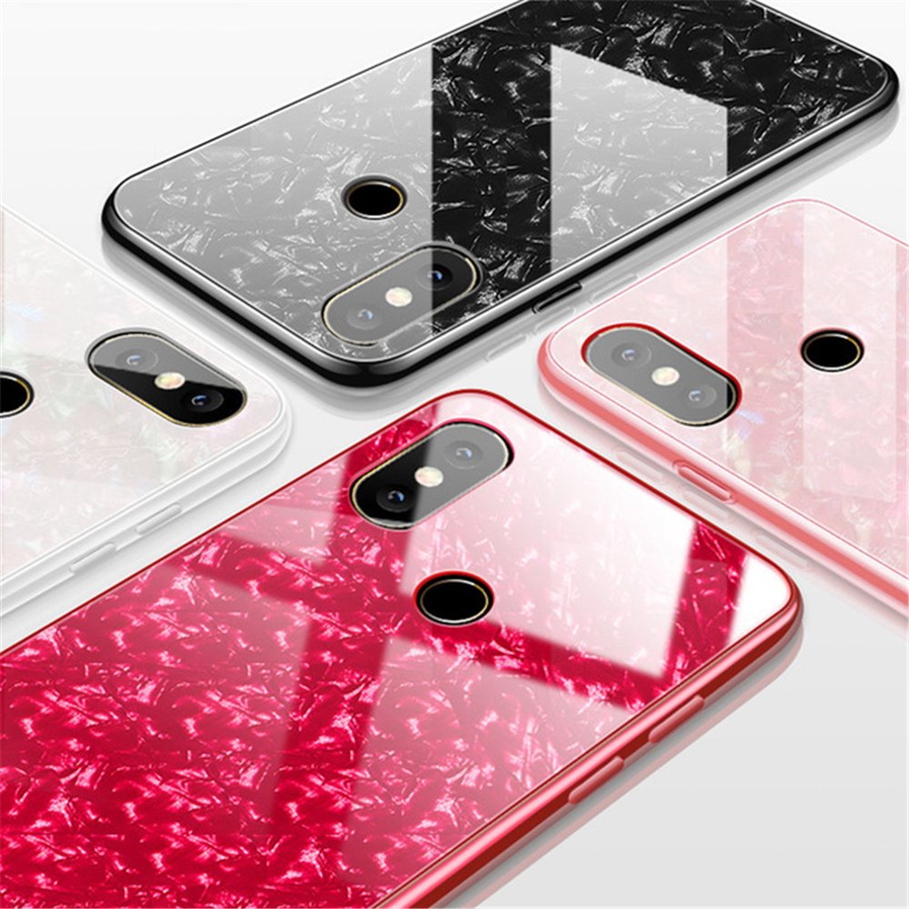 comprare on line acd78 e11b0 US $3.01 5% OFF|For Xiaomi Redmi S2 Case 5 Plus Luxury Bling shell Back  Tempered Glass Case for Xiaomi Mi 8 6 5X 6X A1 Note 3 Mix 2 2s Cases Pro-in  ...