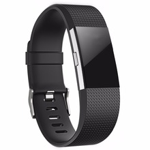 Replacement Watch strap for fitbit charge 2 band Silicone Sport bracelet belt replacement wristband small large