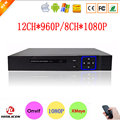 Hi3520D Chip XMeye 12CH P2P 8CH 1080 P FUll HD Gravador de Vídeo Vigilância 960 P Digital de Câmera IP Onvif NVR frete Grátis