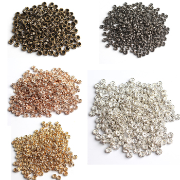 100pcs 4mm Metal Plated Beads  1