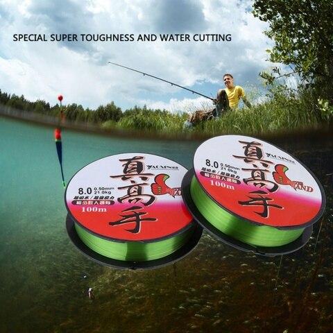 100 m de pesca de nylon linha 0 4 8 lider fio de pesca corda