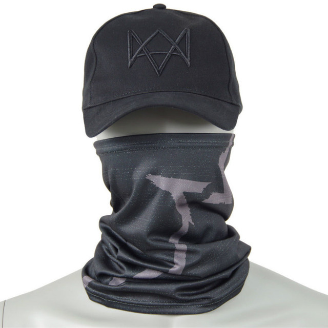 Watch Dogs Face MASK + CAP Hat Aiden Pearce Costume Cosplay Scarf Top Sale 1