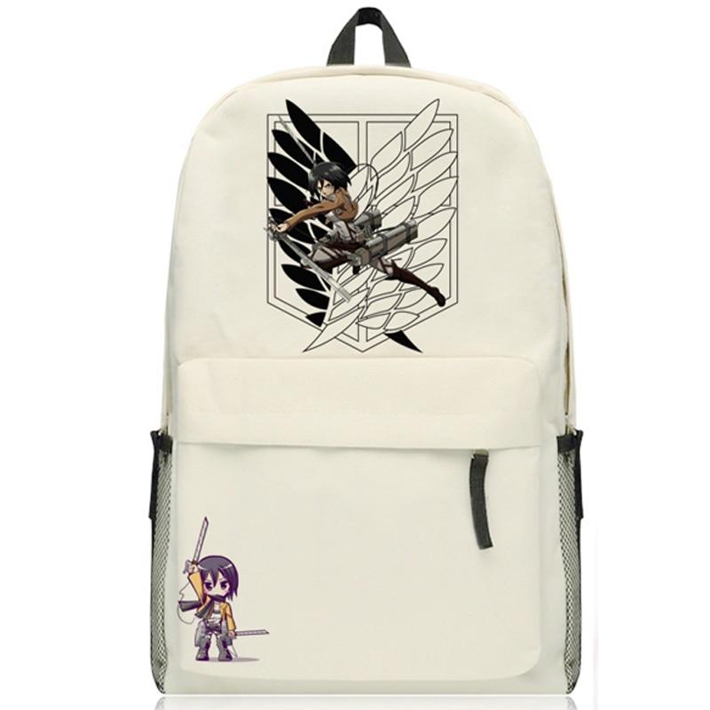New Arrival Hot Shingeki No Kyojin Shoulders Bag Attack On Titan Levi Ackerman Cosplay Backpack Schoolbag Free Shipping