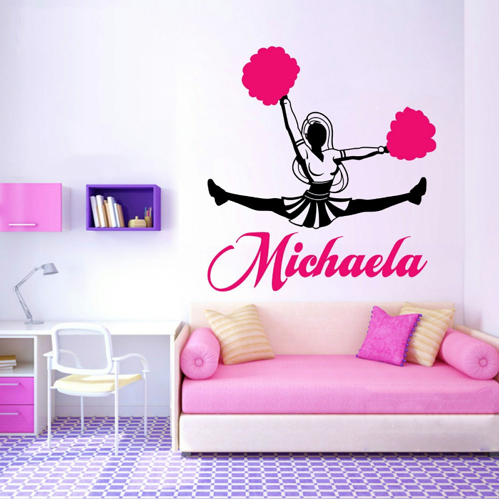Have Your Child 39 S Favorite Cheerleading Chant Or Yell Made Into A Vinyl Wall Decal To Be Displayed On One Of The Bedroom Walls More Fabulous Ideas